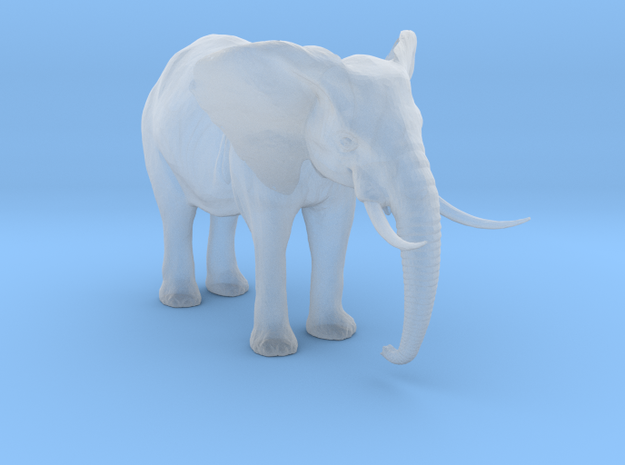 African Alpha Elephant in Smooth Fine Detail Plastic