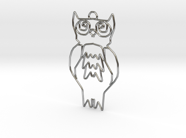 Owl in Polished Silver