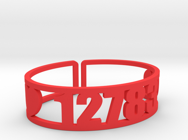 Chipinaw Zip Code Cuff in Red Processed Versatile Plastic