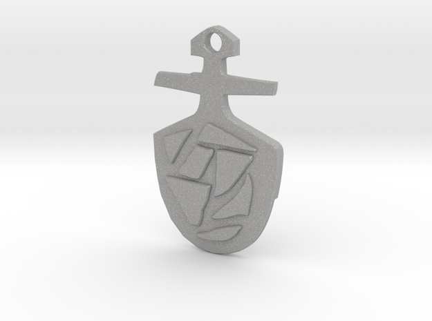Third Doctor's T.A.R.D.I.S. Key Pendant 3d printed