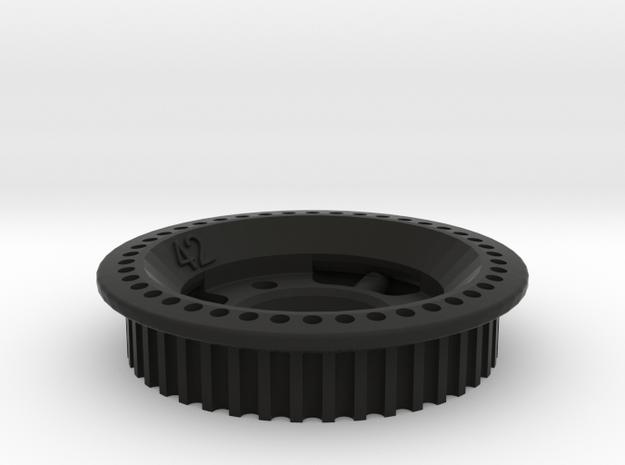 HTD3M-42 Special in Black Natural Versatile Plastic