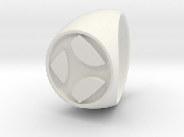 Custom Signet Ring 26 in White Natural Versatile Plastic