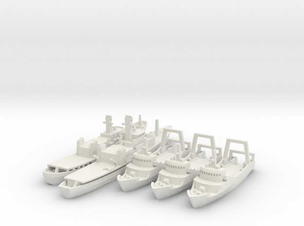 1/700 Cod War Set 2 in White Strong & Flexible: 1:700
