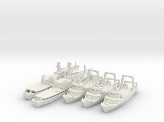 1/700 Cod War Set 2 in White Strong & Flexible