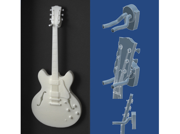 Guitar wall hanger - scale 1:6