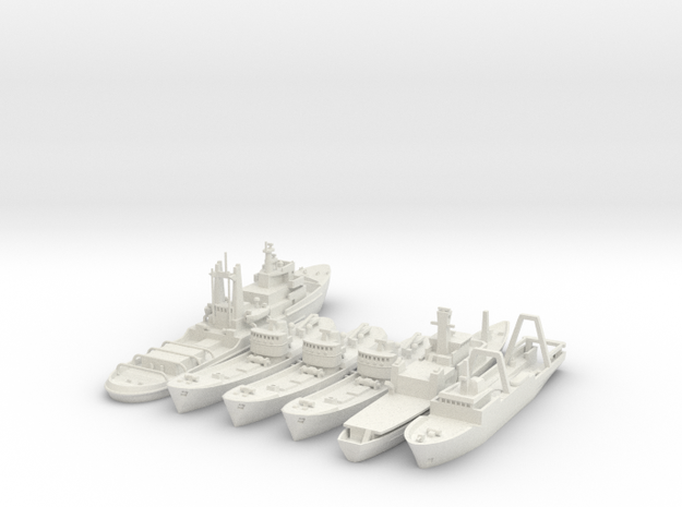 Cod War Set 1 1:700/600 in White Natural Versatile Plastic: 1:700