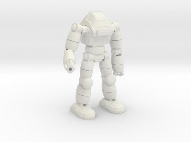 Neo Battlesuit Pose 3 in White Natural Versatile Plastic