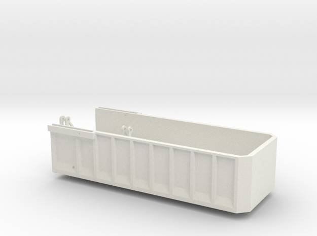 AS22 Bed in White Natural Versatile Plastic: 1:64