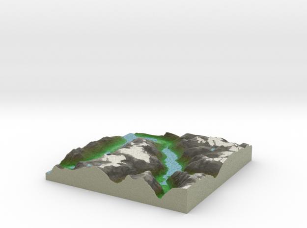 Terrafab generated model Sun May 15 2016 23:16:13  in Full Color Sandstone