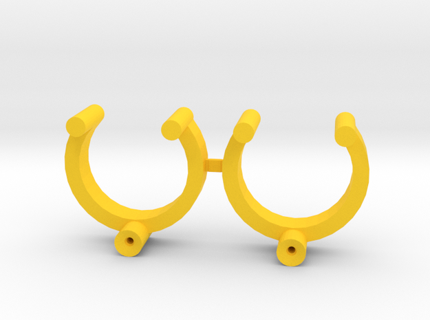 Collector Pins Magnet Adapter - Break Apart Pair in Yellow Strong & Flexible Polished