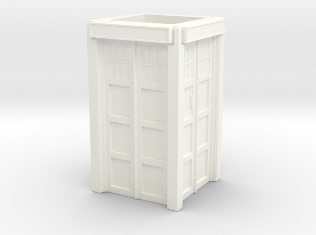 The Physician's Blue Box in 1/35 scale (walls only in White Strong & Flexible Polished