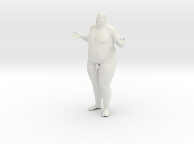 1/20 Fat Man 013 in White Natural Versatile Plastic