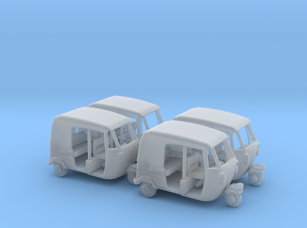 Auto Rickshaw / Tuk Tuk x4, OO-Scale 1:76 in Smooth Fine Detail Plastic