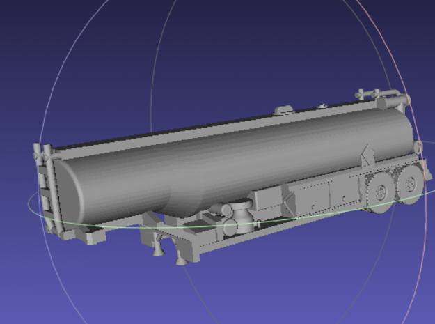 1/144 M969 Fuel-Tank Trailer 3d printed