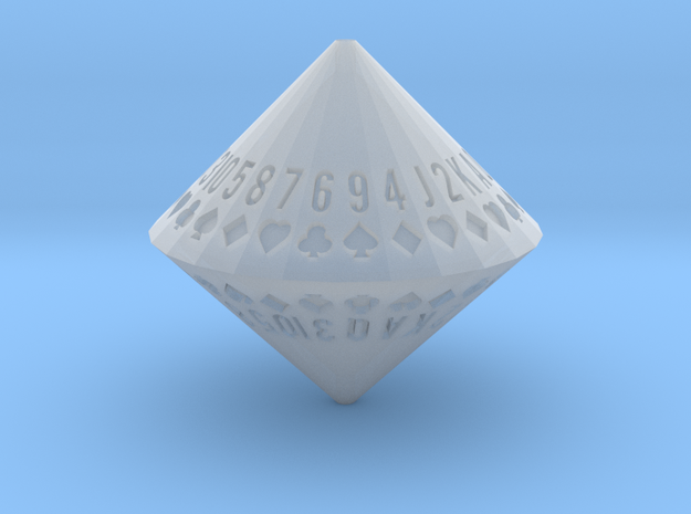 d52 Random Card Generator (frosted) in Smooth Fine Detail Plastic