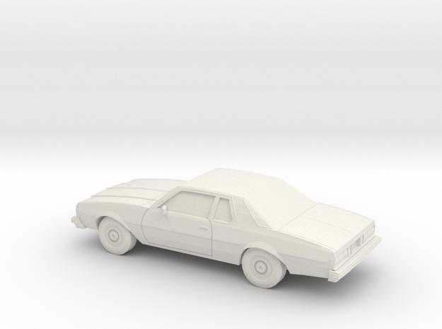 1/87 1977-78 Chevrolet Caprice Coupe in White Natural Versatile Plastic