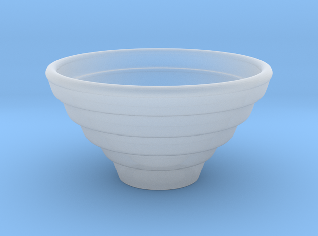 Bowl Hollow Form 2016-0007 various scales in Smooth Fine Detail Plastic: 1:24