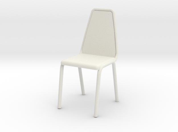 1:24 Vinyl Stacking Chair in White Strong & Flexible
