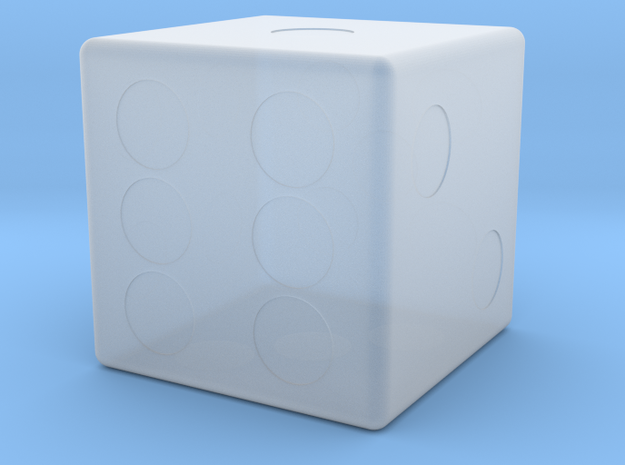 Dice in Smooth Fine Detail Plastic
