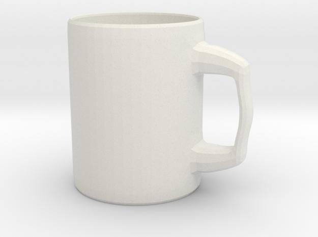 Designers Mug for Coffee or else in White Natural Versatile Plastic