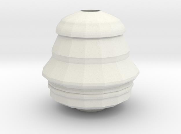 Face Vase in White Natural Versatile Plastic