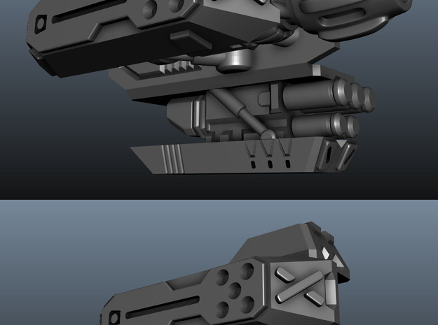 1/60 '19-Style Arm Cannon (Right) 3d printed