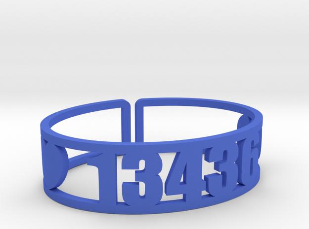 Raquette Lake Zip Cuff in Blue Processed Versatile Plastic