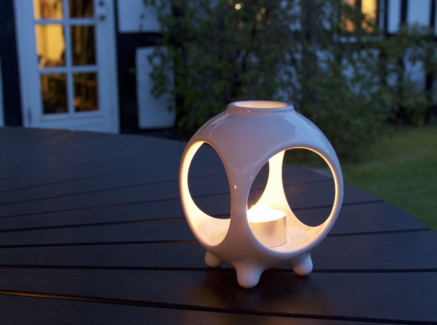 Open Sphere Tea Light - Small Top