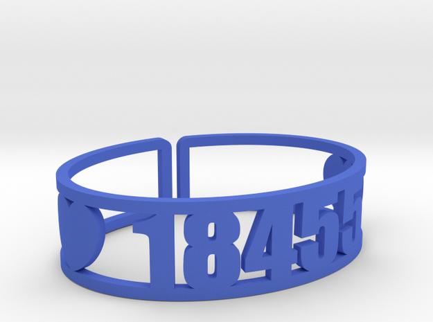 Wayne (Camp For Girls) Zip Cuff in Blue Processed Versatile Plastic