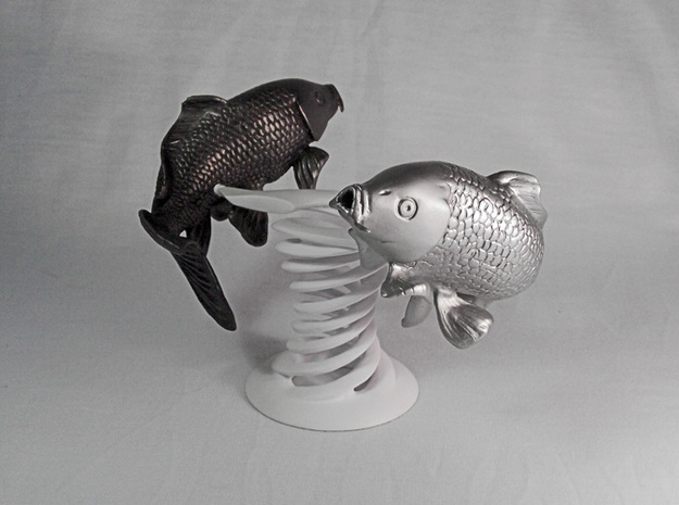 Yin Yang Koi Set in White Strong & Flexible
