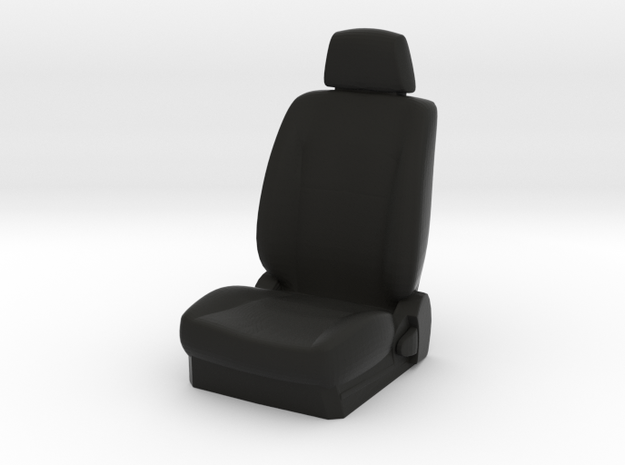 1/10 Scale Car Seat in Black Natural Versatile Plastic