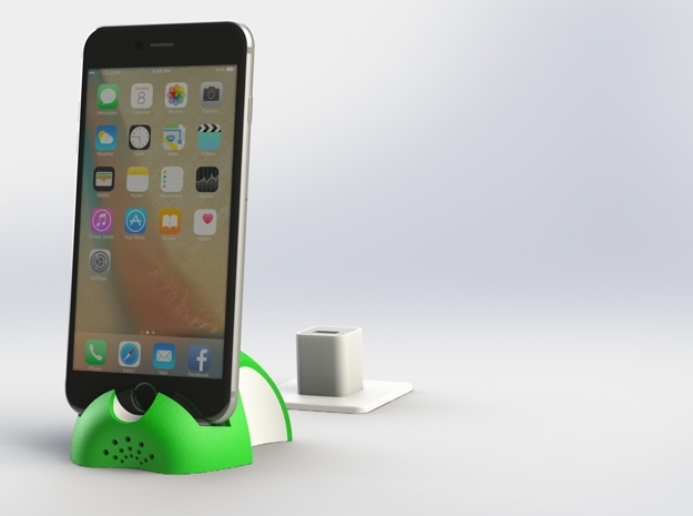 iPhone 6S/6S Plus Dock-Green in Full Color Sandstone
