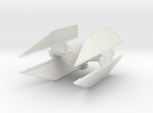 TIE Avenger Fine Molds scale in White Natural Versatile Plastic