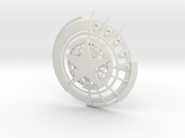 Captain America Shield: Prototype (10cm) in White Natural Versatile Plastic