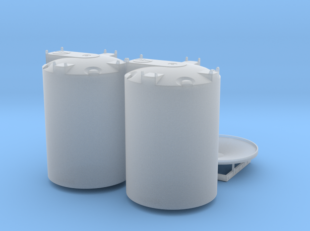 1/64 Cone Bottom trailer 2 X 3000 gal in Smooth Fine Detail Plastic