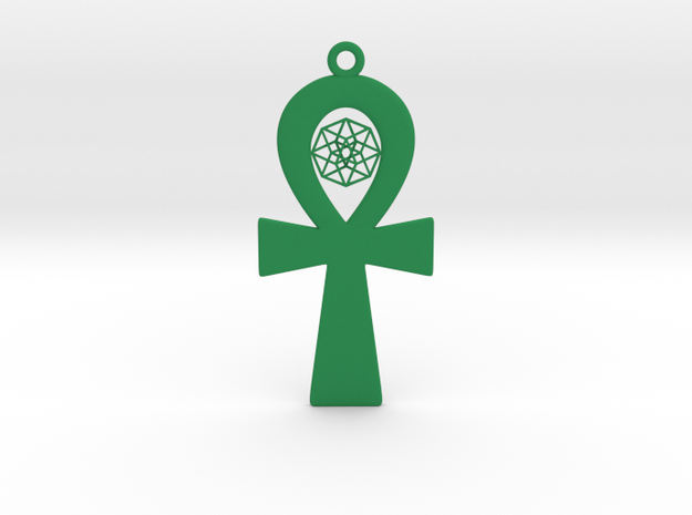 "TesserAnkh 3""x6"" in Green Processed Versatile Plastic"