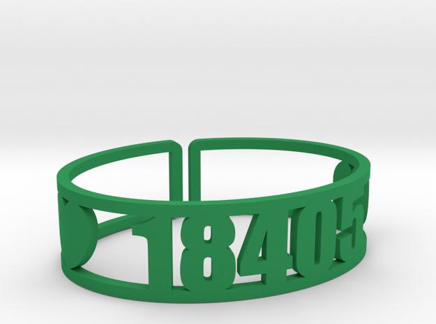Trail's End Zip Cuff in Green Processed Versatile Plastic