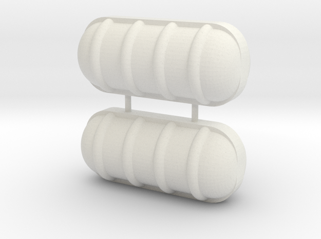 Liferaft 27x12 mm in White Strong & Flexible