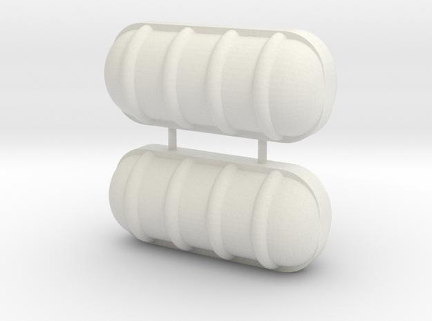 Liferaft 27x12 mm in White Natural Versatile Plastic