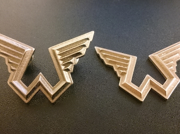 Wings Logo Necklace Pendant in Stainless Steel