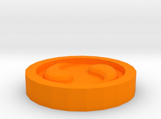 The Spirit Medallion  in Orange Strong & Flexible Polished