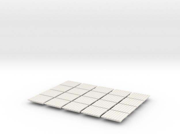 Skids (16) - HO 87:1 Scale in White Natural Versatile Plastic