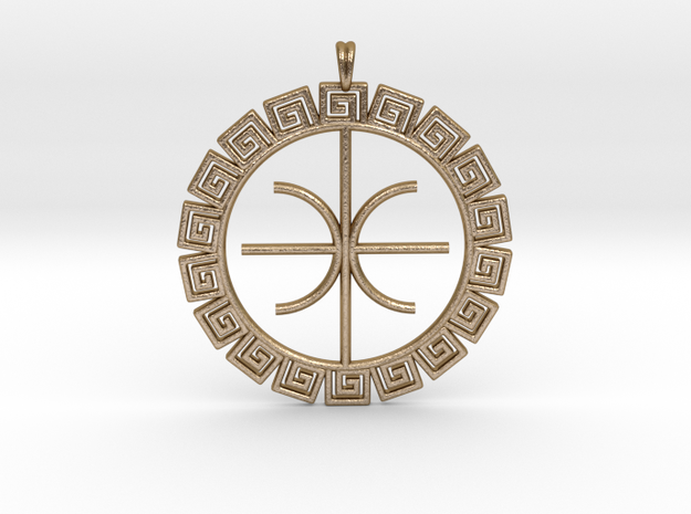 Delphic Apollo E Ancient Greek Jewelry Symbol 3D