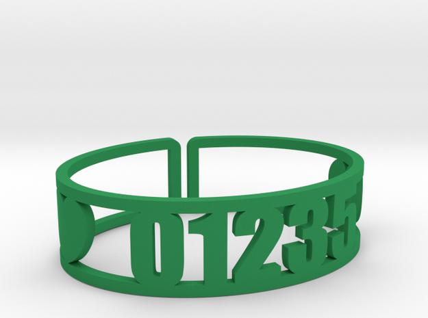 Taconic Zip Cuff in Green Processed Versatile Plastic