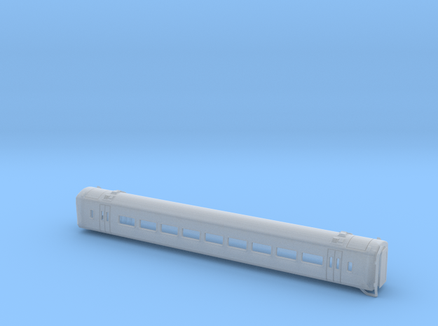 N Gauge Class 158 Version 1 Centre Carriage in Smooth Fine Detail Plastic