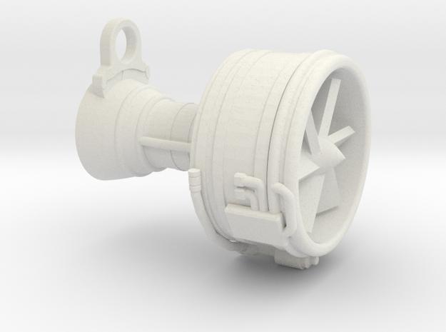 Turbofan Engine Key Fob in White Strong & Flexible