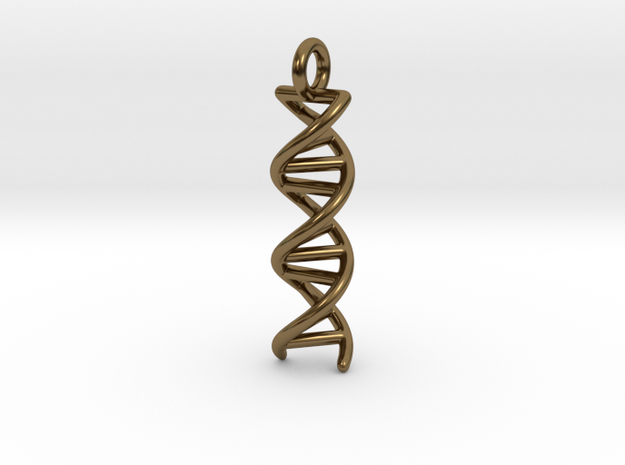 DNA Double Helix Pendant 3d printed