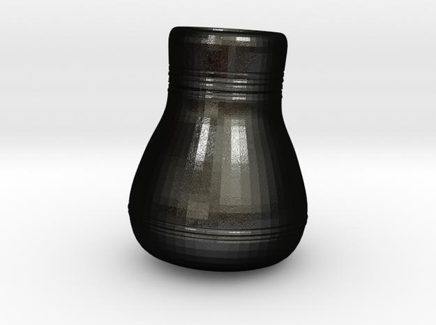 3.5 inch Rough Vase in Matte Black Steel