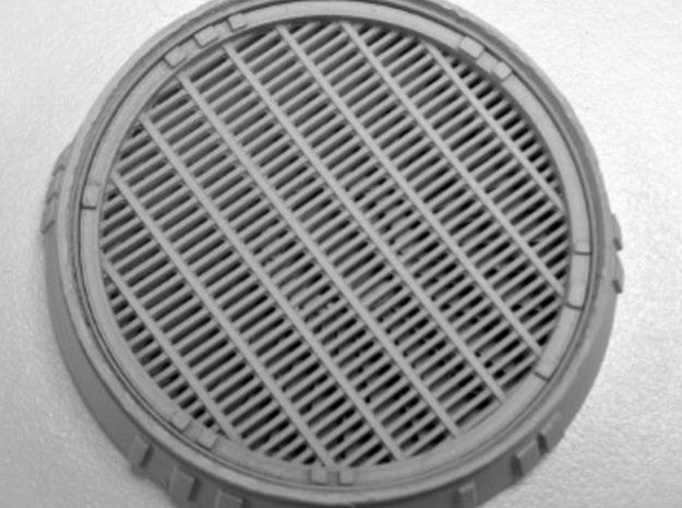 Exhaust Port with Grille for deAgostini Falcon in Frosted Ultra Detail