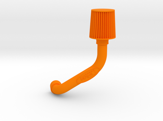 Cold Air Intake Air Filter Keychain (Keyring Not I in Orange Processed Versatile Plastic